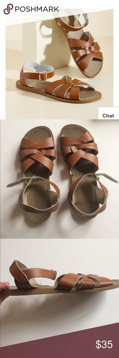 SALTWATER sandal Leather sandal, worn twice! Great condition, minimal signs of wear. True to size, bundle to save! Salt Water Sandals by Hoy Shoes Sandals