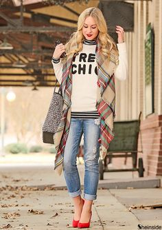 Red Classic Plaid Scarve