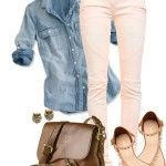Spring Outfits | Blue and Pink