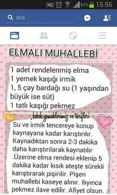 Elmali muhallebi