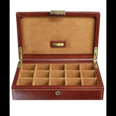 Buy Dulwich Designs Heritage Cufflink Box, Leather, Brown from our Jewellery Boxes & Rolls range at John Lewis & Partners. Leather Jewelry Box, Jewellery Boxes, Christening Gifts, Home Gifts, Gemstone Jewelry, Cufflinks, Gemstones, Brown, Classic