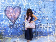 Coffee Break: Navy Dress Style #5: Mexican Accesories and Heart Grafitti / Photoshoot in #Guadalajara with Long dress with a heart grafitti background #quotes #fashion