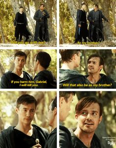 Michael + Gabriel: As my brother? #dominion