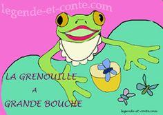 La-grenouille-à-grande-bouche conte en ligne de legende-et-conte.com