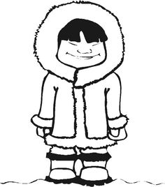 Eskimo Coloring Page Online Coloring Pages, Coloring Pages For Girls, Colouring Pages, Printable Coloring Pages, Disney Halloween, Art Inuit, Dramatic Play Themes, Alaska, Eskimo