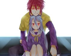 Shiro and Sora from the anime series No Game No Life