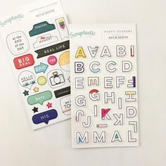 We pretty much cannot get enough of our exclusive puffy + chipboard stickers…