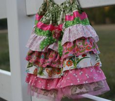 Girls Ruffle Skirt. My newest sewing project!