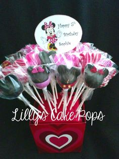 Mickey & Minnie Cake Pops Boquet