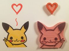 Pikachu-Loves-You-Hand-Made-Stamp by WillPetrey.deviantart.com on @deviantART