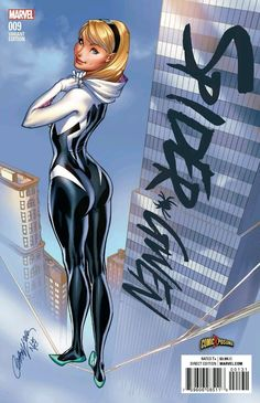 Spider-Gwen variant cover by J. Scott Campbell, colours by Nei Ruffino Marvel Comics, Arte Dc Comics, Marvel Art, Anime Comics, Marvel Heroes, Spider Girl, Marvel Spider Gwen, Spider Women, Marvel Girls