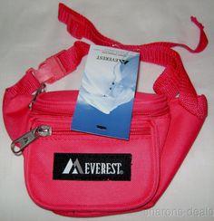 "Childrens Fanny Waist Pack Hot Pink Everest Junior Signature Adjustable 15""-59"" #Everest"