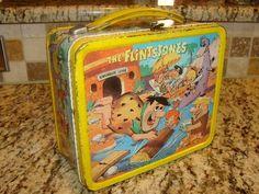 Flintstones lunchbox; 1964. (top)