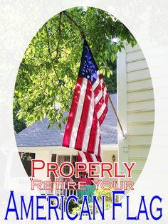 proper disposal of us flag