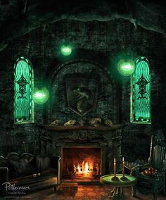 I'm a Slytherin in pottermore n this is my common room # proud