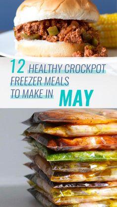 Freezable Meals, Slow Cooker Freezer Meals, Crock Pot Freezer, Healthy Crockpot Recipes, Baby Food Recipes, Dinner Recipes, Chicken Recipes, Meal Planning Recipes, Healthy Crockpot Freezer Meals