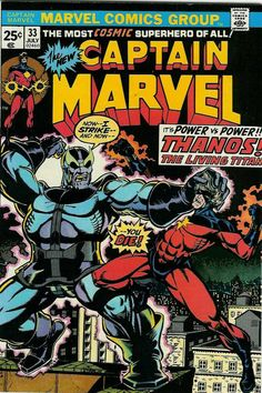Captain Marvel marvel bronze age comic book cover art by Jim Starlin Dc Comics, Comics For Sale, Star Comics, Captain Marvel, Marvel Vs, Book Cover Art, Comic Book Covers, Book Art, Marvel Comic Books