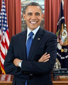 President Barack Obama's New Official President's Portrait.... 2013 ...44th President Of The United States...