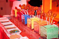 Donuts on a Stick with Colorful Toppings - @BizBash Idea of the Day