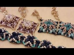 Beading Projects, Beading Tutorials, Beading Patterns, Making Bracelets With Beads, Beaded Bracelets Tutorial, Jewelry Making Tutorials, Seed Bead Earrings, Bead Crafts, Bead Weaving