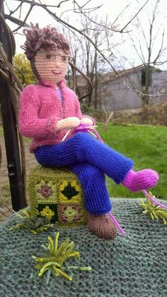 Yarn bombing in support of Botton Village Camphill Community Co-workers.