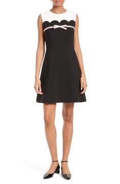 KATE SPADE Bow Trim A-Line Dress. #katespade #cloth #