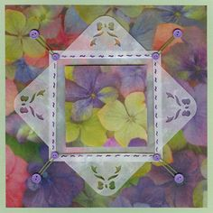 Hydrangeas in a frame by niki1 - Cards and Paper Crafts at Splitcoaststampers