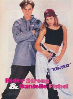 When Rider Strong and Danielle Fishel tried to be badasses. | 25 Times '90s Teen Heartthrobs Photos Failed