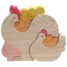 組み木 木のおもちゃ 『遊プラン』 KA491 | 7羽のヒヨコ・MC