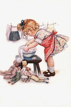 ideas doll art illustration artworks for 2019 Images Vintage, Vintage Artwork, Vintage Pictures, Vintage Prints, Vintage Ephemera, Vintage Cards, Vintage Postcards, Art And Illustration, Vintage Laundry