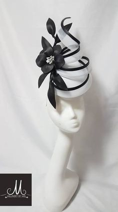 Custom and read to wear fascinators, hats and headwear Sinamay Hats, Millinery Hats, Fascinator Hats, Fascinators, Headpieces, Royal Blue Fascinator, White Fascinator, Top Hats For Women, Tea Party Outfits