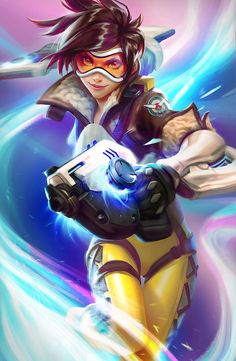 Tracer by NewMilky. on Overwatch, Overwatch Tracer by NewMilky. on Source by Tracer by NewMilky. Overwatch Tracer, Overwatch Comic, Overwatch Memes, Chibi Overwatch, Overwatch Drawings, King's Quest, Game Character, Character Design, Rakan League Of Legends