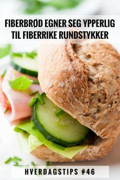 Hverdagstips #46: Vil du ha mer fiber i rundstykkene dine? Sunnere Fiberbrød egner seg ypperlig og er enkelt å lage i småporsjoner | Gode hverdagstips fra Funksjonell Mat til deg Hamburger, Gluten, Bread, Baking, Food, Brot, Bakken, Essen, Burgers