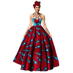 Cheap dress maxi, Buy Quality womens clothing directly from China party dresses Suppliers: Womens African Dress Dashikis Print Ball Gown Party Dress Maxi and Strapless Women Clothing with Free Headwear Plus Size African Dresses For Women, African Attire, African Fashion Dresses, Party Dresses For Women, African Women, Summer Dresses, Fashion Outfits, Fashion Ideas, African Print Clothing