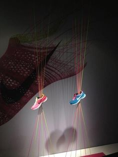 ♂ Commercial space retail store design visual merchandising window display - Nike shoes