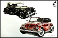 Old cars made by Ewelina Konopska in DOMIN Radom drawing school / Stare samochody narysowane przez Ewelinę Konopską w szkole rysunku DOMIN Radom https://www.facebook.com/DominRadom?fref=photo