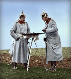 Kaiser Wilhelm II on military manœuvers