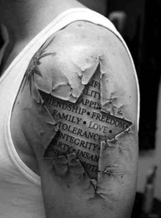This tattoo is crazy cool.
