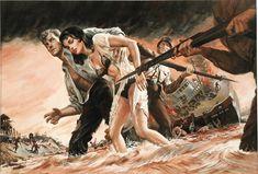 "Penal Queen of Captain""Crazy's"" Jungle Terror Colony . Gouache on board . 17 x. Pulp Magazine, Magazine Art, Magazine Covers, Adventure Magazine, Pulp Fiction Book, War Comics, Pop Culture Art, Sci Fi Horror, Pulp Art"