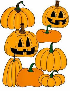 Pumpkin Clip Art -- FREEBIE! Perfect for Halloween decorations or worksheets/printables.