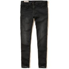 Hollister Super Skinny Zipper Fly Jeans Guys Jeans Bottoms ($25) ❤ liked on Polyvore featuring hollister co.