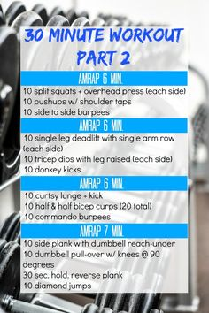 Try this full body 30 minute workout the next time you want to work hard at the gym!