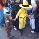 The Man in the Yellow Hat and Curious George, from: Costumes: Literary-Inspired — Homecrafted Halloween | Apartment Therapy