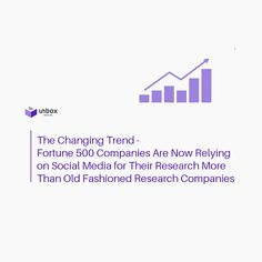 The Changing Trend - Fortune 500 Companies Are Now Relying on Social Media For Their Research More Than Old Fashioned Research Companies - Latest Social Media Tips, Strategies and Best Practices – Unbox Social Research Methods, Best Practice, Influencer Marketing, Inevitable, Social Media Tips, Effort, Behavior, Insight, Learning