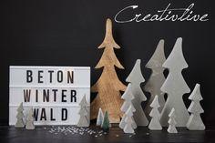 DIY Beton Winterwald und Gewinner | creativeLIVE | Bloglovin'
