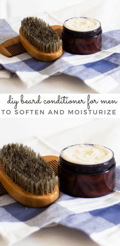 This DIY beard conditioner will add moisture to your beard and help soften beard hair. Natural beard conditioner is simple to whip up, cost-effective, made with wholesome ingredients, and really works to condition the beard and mustache. #beardoil #beardconditioner #naturalbeardbalm #beardbalmformen Diy Shampoo, Homemade Shampoo, Shampoo Bar, Natural Haircare, Natural Products, Beard Conditioner, Hair Care Recipes, Diy Hair Care, Hair And Beard Styles