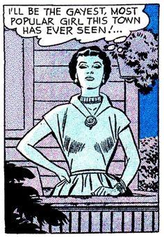 Okay, who's been writing comics about me? Vintage Lesbian, Lesbian Art, Lesbian Pride, Arte Do Pulp Fiction, Comic Art, Comic Books, Vintage Pop Art, Gay Aesthetic, Riot Grrrl