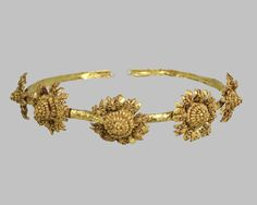 Diadem with rosette/Greek, 3rd Century B.C.