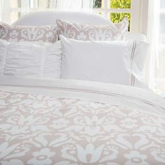 Bedroom inspiration and bedding decor | The Montgomery Beige Duvet Cover | Crane and Canopy
