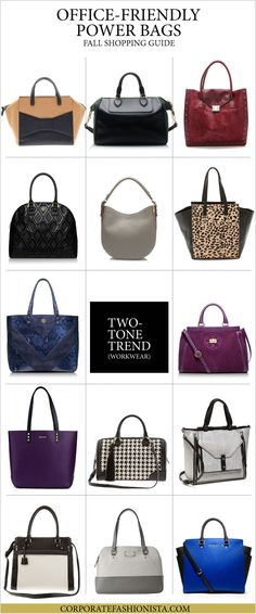 Power Bags: A Career Girl's Fall Guide | http://www.corporatefashionista.com/